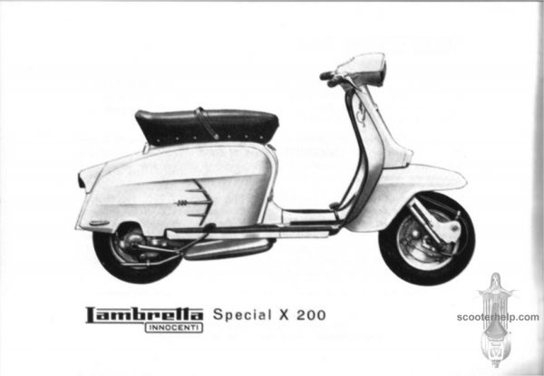 1959 Lambretta X200 Special Scooter Excellent Performance
