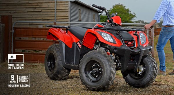 Kymco MXU 150 Quad 5 year warranty