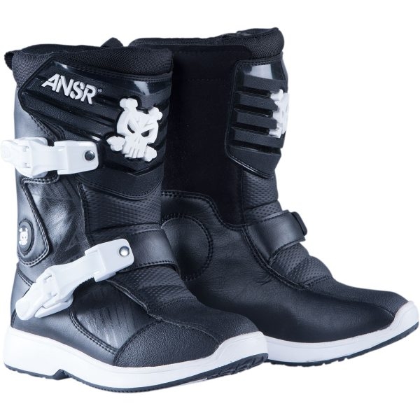 Answer Mini Toddler Boots Black/White