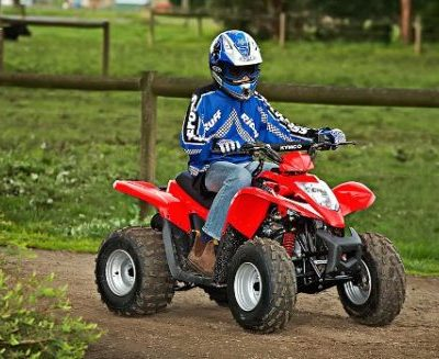 KYMCO'S YOUTH QUADS FIT THE CHRISSY BILL!